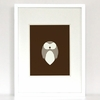 Houndstooth Owl Art Print
