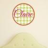 Houndstooth Personalized Fabric Wall Decal
