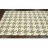 Houndstooth Rug in Brown