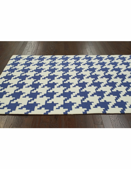 Houndstooth Rug in Royal Blue