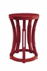 Hourglass Stool or Side Table - Red