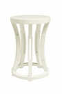 Hourglass Stool or Side Table - White