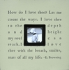How Do I Love Thee Square Picture Frame
