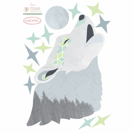 Howling Wolf Fabric Wall Decals