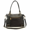 Hudson Leather Diaper Bag in Black