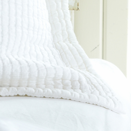 On Sale Hudson White Matelasse Standard Sham