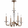 Hugo Four Light Roman Bronze Chandelier