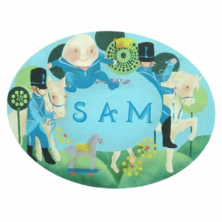 Humpty Dumpty Personalized Hand Painted Canvas Wall Art
