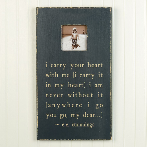I Carry Your Heart Rectangle Picture Frame By Sugarboo Designs