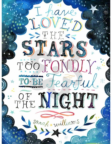 I Have Loved the Stars Canvas Wall Art