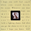 I Hope You Dance Square Picture Frame
