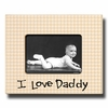 I Love Daddy Houndstooth Picture Frame