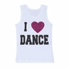 I Love Dance Kids Tank Top