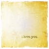I Love You Canvas Wall Art - Gold