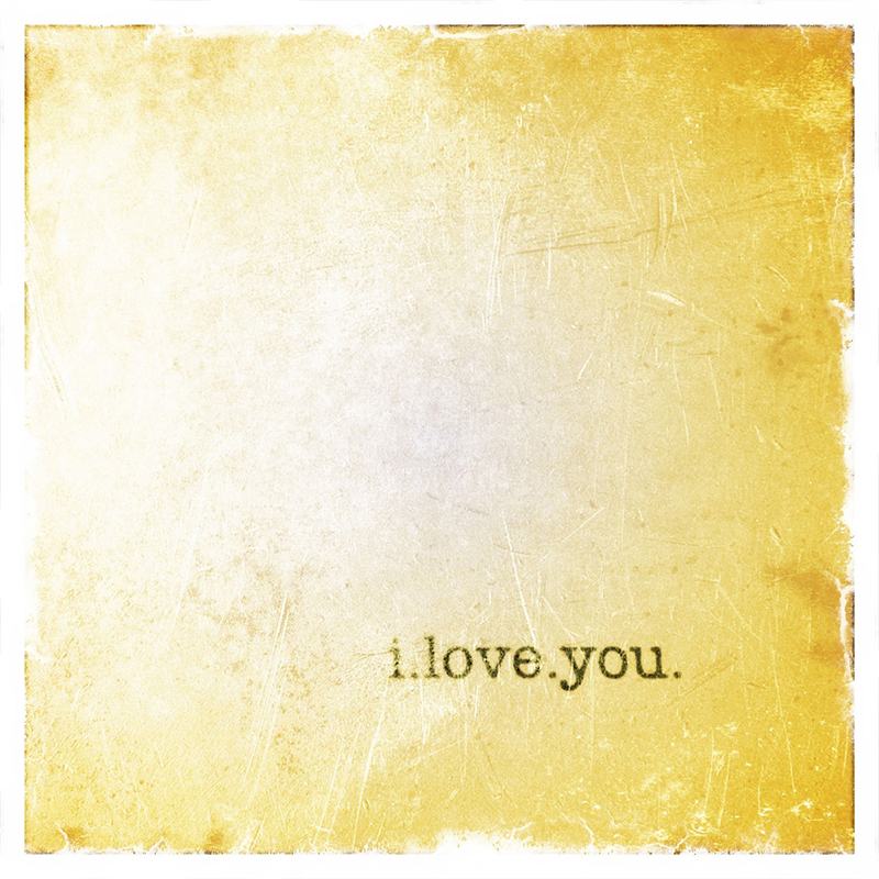 I Love You Canvas Wall Art Gold Rosenberryrooms Com