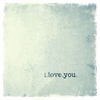 I Love You Canvas Wall Art - Silver