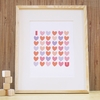 I Love You Pink Art Print