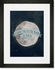 I Love You To The Moon Blue Framed Art Print