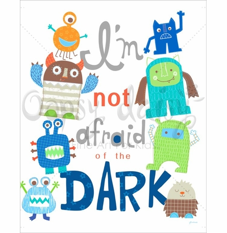 I'm Not Afraid Of The Dark Canvas Wall Art