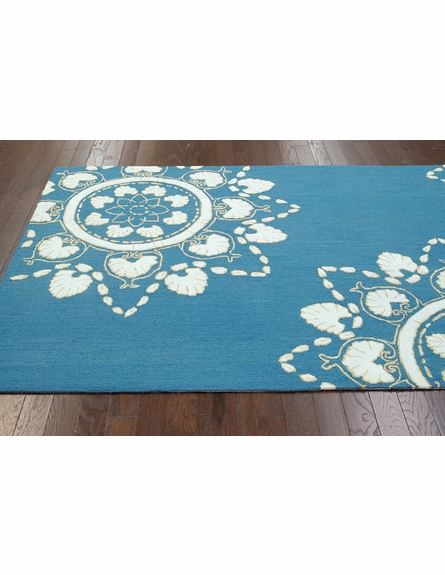 Ian Cotton Rug in Blue