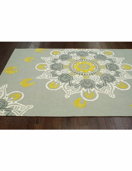 Ian Cotton Rug in Light Gray
