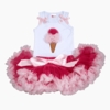 Ice Cream Cone Couture Tutu Set