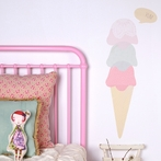 Ice Cream Cone Fabric Wall Decals