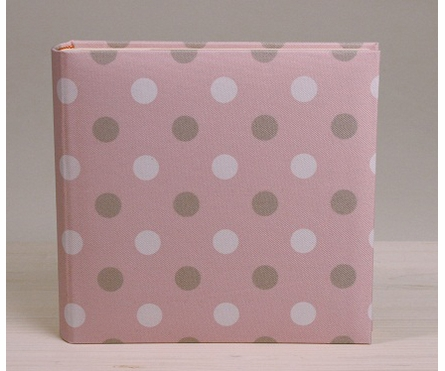 Ice Cream Dot Photo Album in Pink