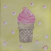 Ice Cream & Sprinkles Stretched Canvas Art