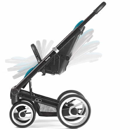 Igo Lite Stroller in Aqua with Silver Frame