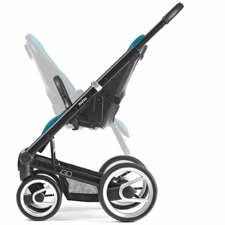Igo Lite Stroller in Blue with Silver Frame