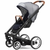 Igo Urban Nomad Stroller in White and Blue with Black Frame