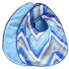 Ikat Blue Chevron Bib Set