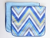 Ikat Blue Chevron Burp Cloth Set