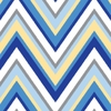 Ikat Blue Chevron Caden Lane Fabric by the Yard