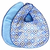Ikat Blue Diamond Bib Set