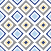 Ikat Blue Diamond Caden Lane Fabric by the Yard