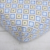 Ikat Blue Diamond Crib Sheet