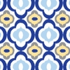 Ikat Blue Mod Caden Lane Fabric by the Yard