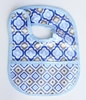Ikat Blue Mod Coated Bib