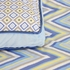 Ikat Blue Throw Pillow