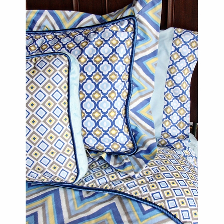 Ikat Blue Pillow Sham