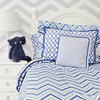 Ikat Chevron Blue Duvet Cover