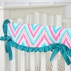 Ikat Chevron Crib Rail Cover