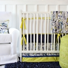 Ikat Citrus Boy Crib Bedding Set