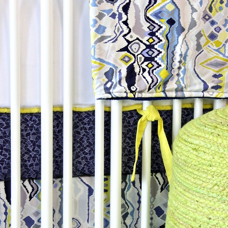 Ikat Citrus Boy Crib Blanket