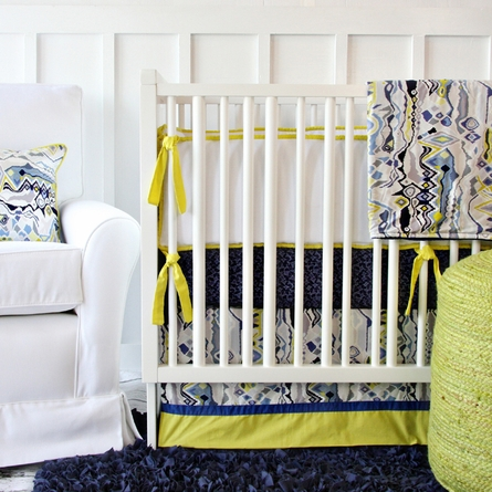 Ikat Citrus Boy Crib Sheet