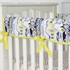 Ikat Citrus Crib Rail Cover