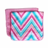Ikat Pink Chevron Burp Cloth Set