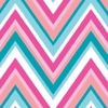 Ikat Pink Chevron Caden Lane Fabric by the Yard